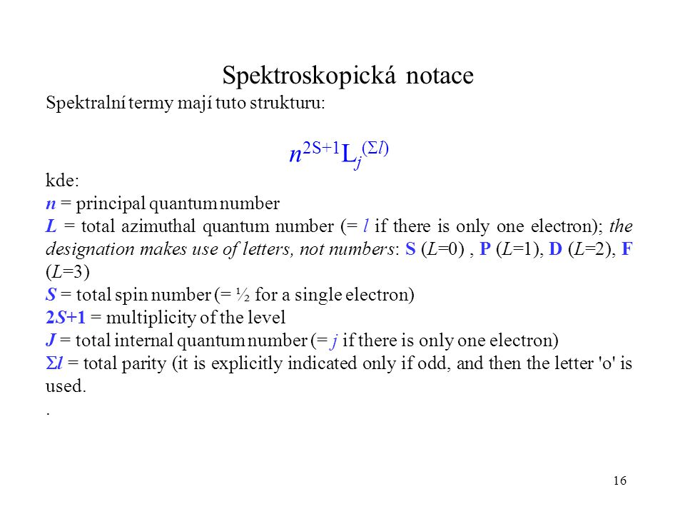 Spektroskopická notace