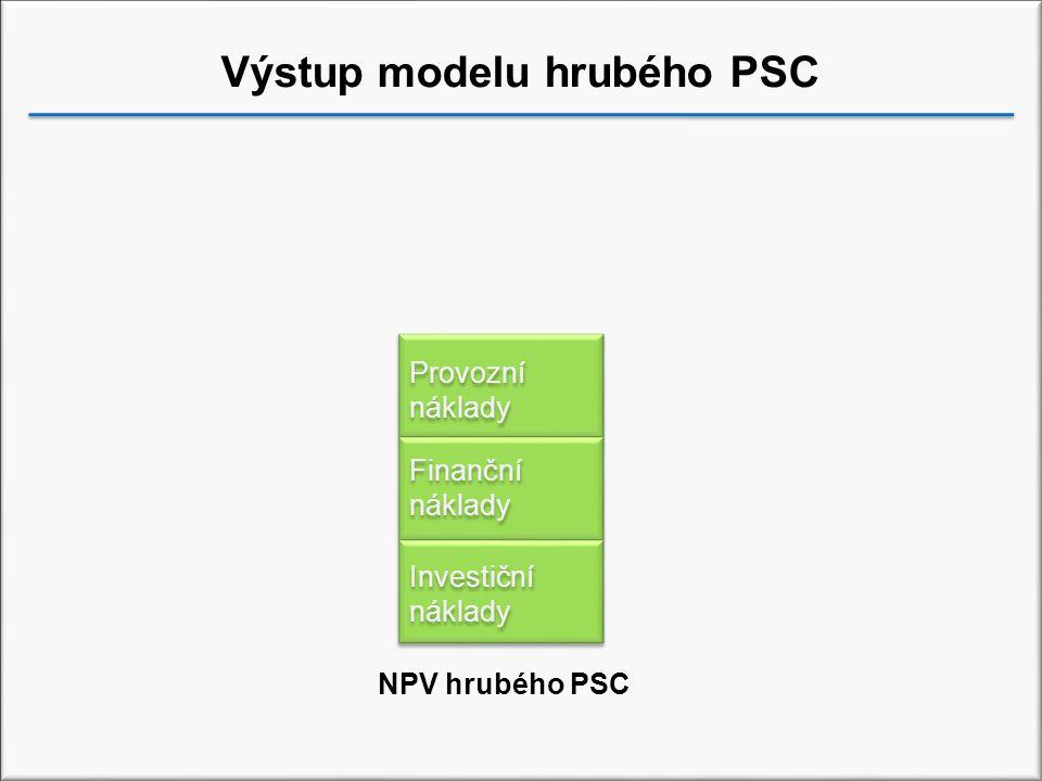 Výstup modelu hrubého PSC