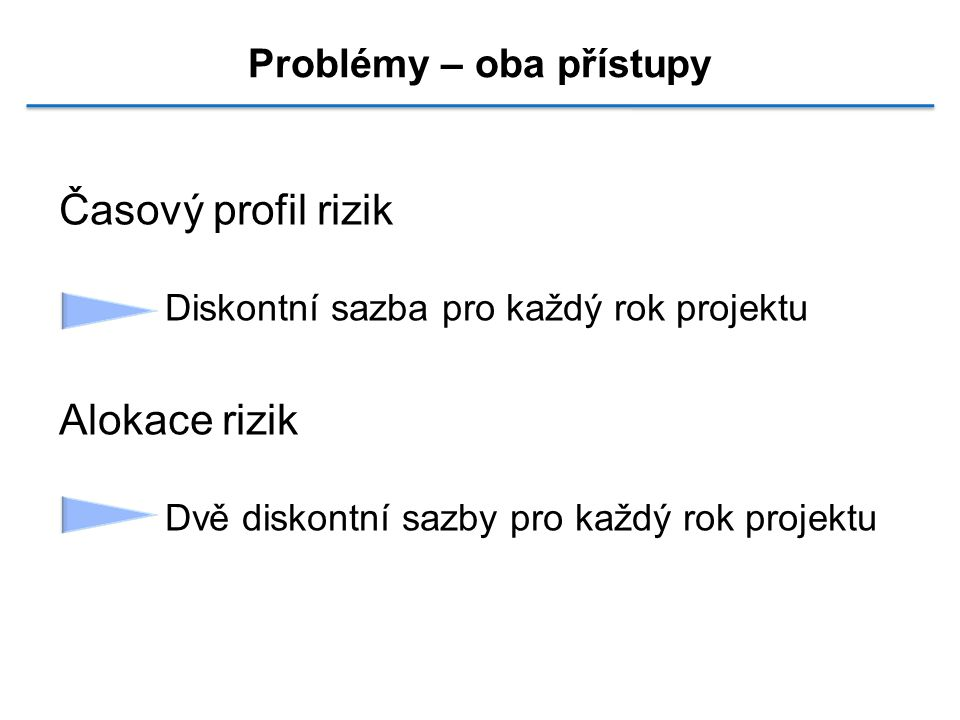 Problémy – oba přístupy