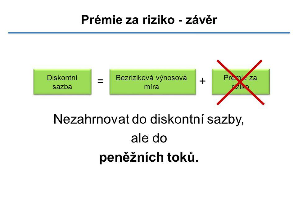 Prémie za riziko - závěr