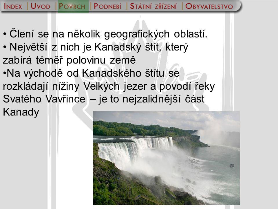 Člení se na několik geografických oblastí.