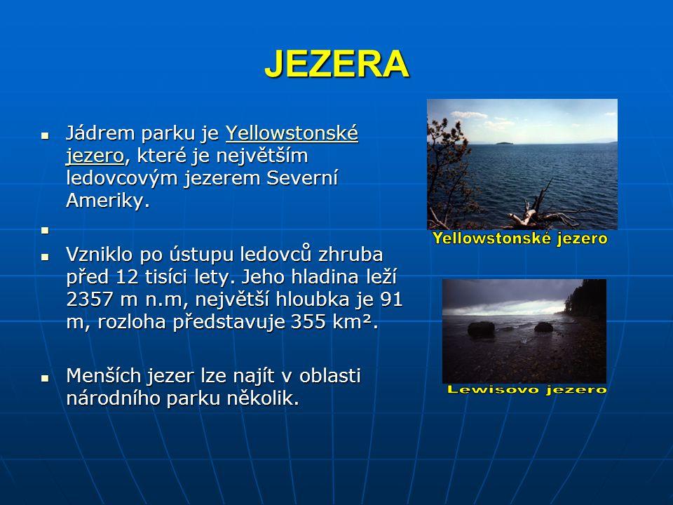 JEZERA Yellowstonské jezero Lewisovo jezero