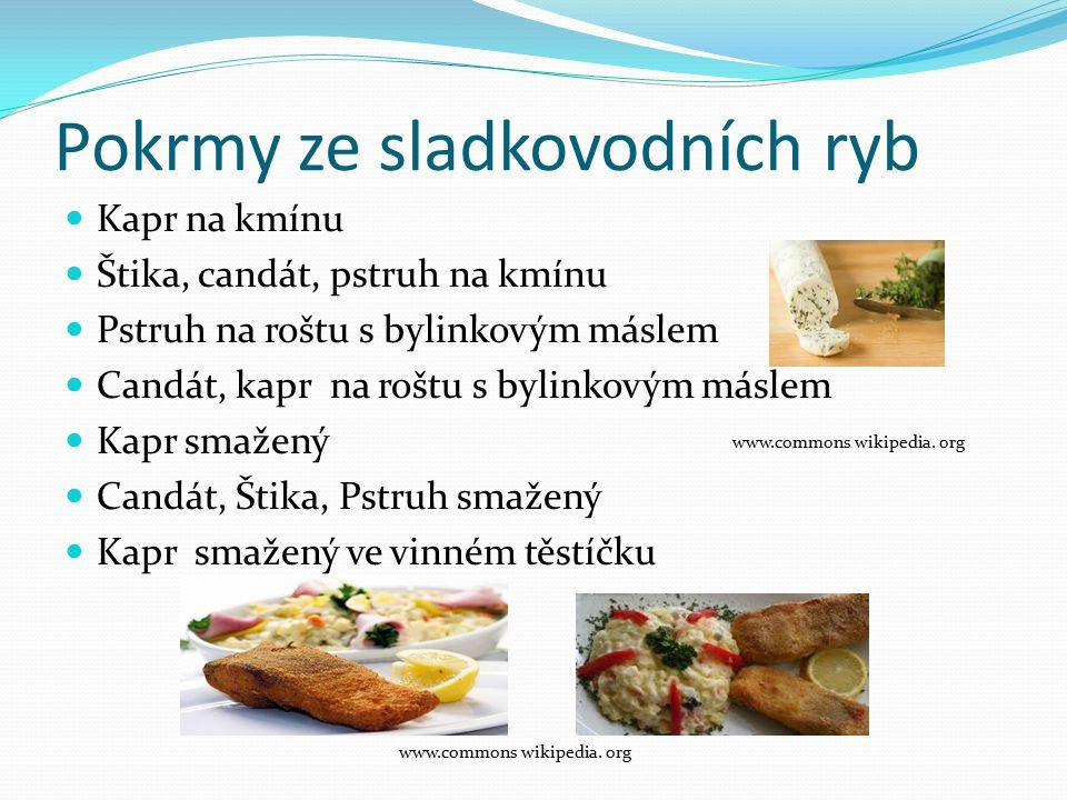 Pokrmy ze sladkovodních ryb