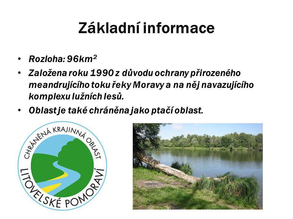 Základní informace Rozloha: 96km2