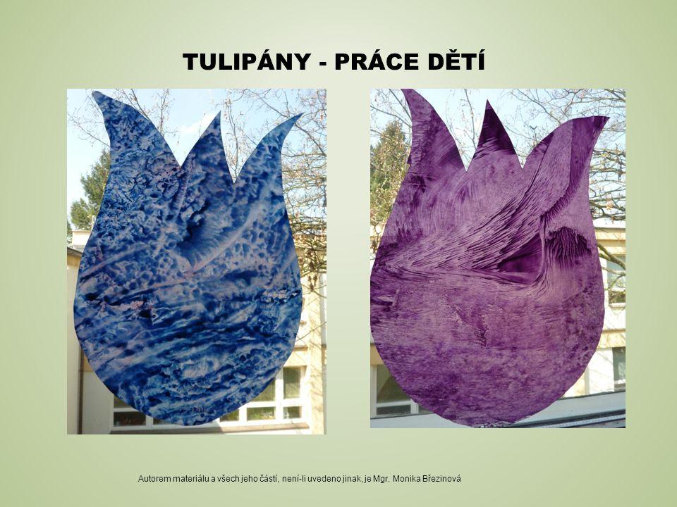 Tulipány - PRÁCE DĚTÍ Autorem materiálu a všech jeho částí, není-li uvedeno jinak, je Mgr.