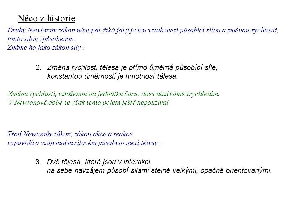 Něco z historie Dynamika I, 1. přednáška