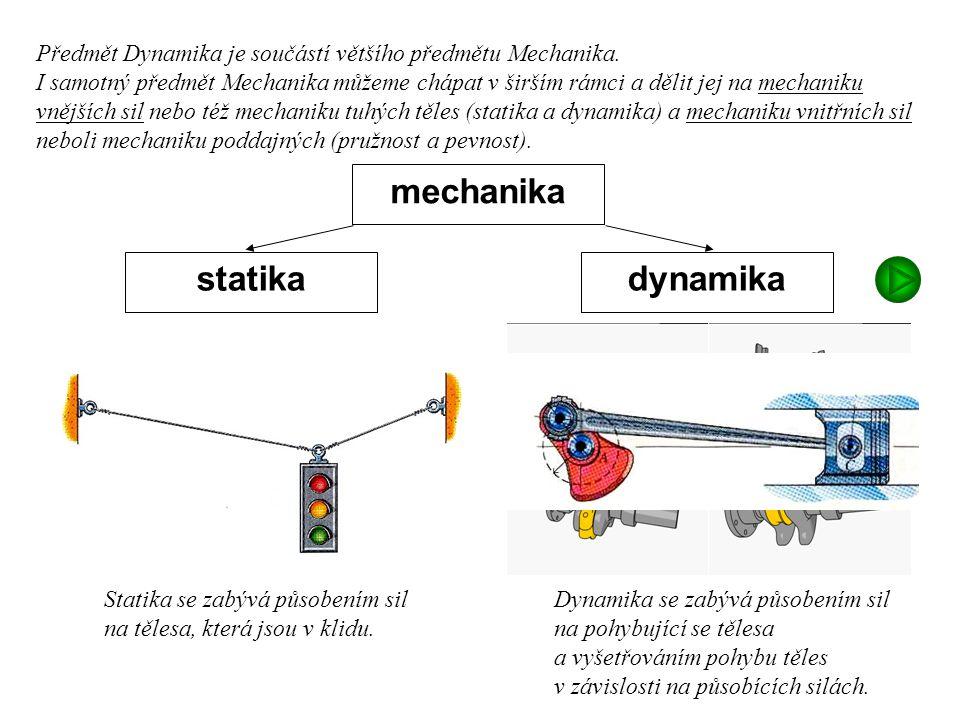 mechanika statika dynamika