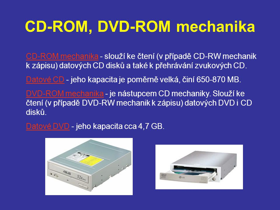 CD-ROM, DVD-ROM mechanika