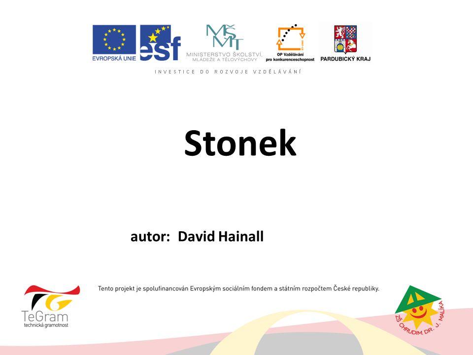 Stonek autor: David Hainall