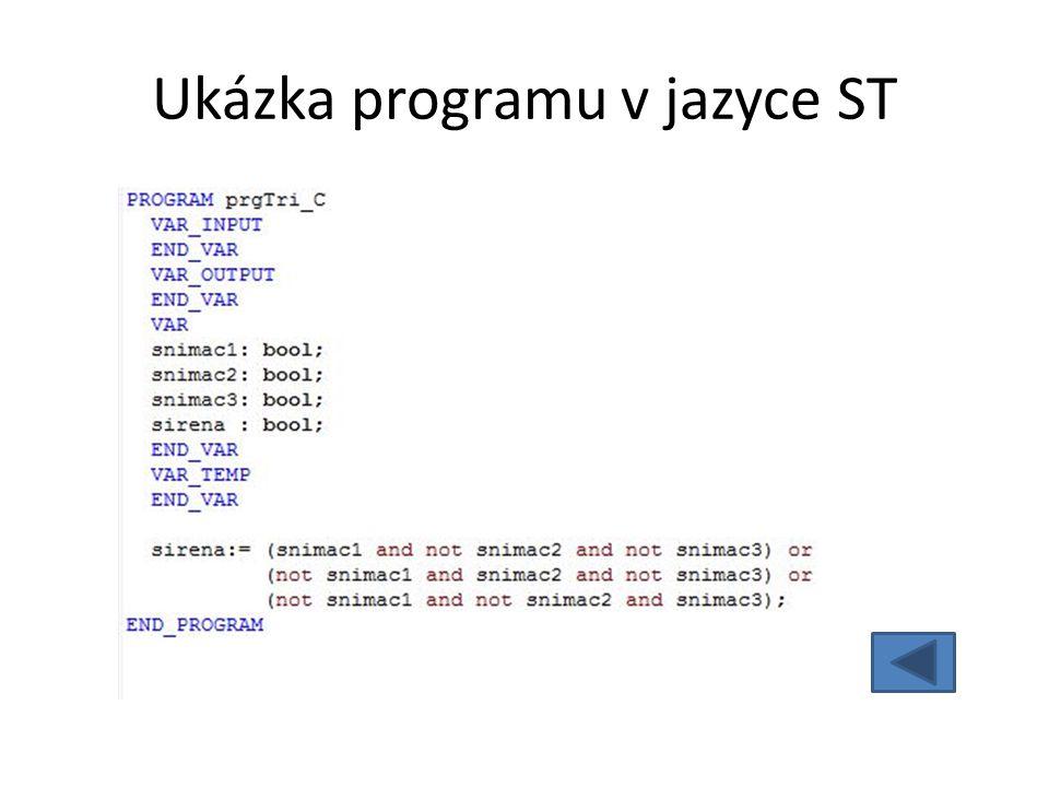 Ukázka programu v jazyce ST