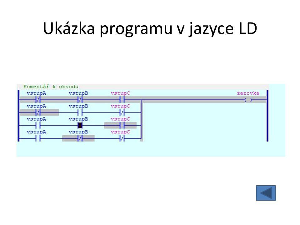 Ukázka programu v jazyce LD