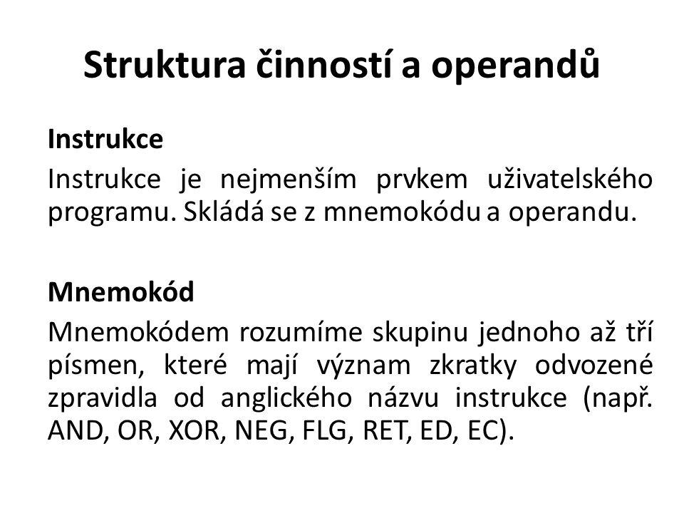 Struktura činností a operandů