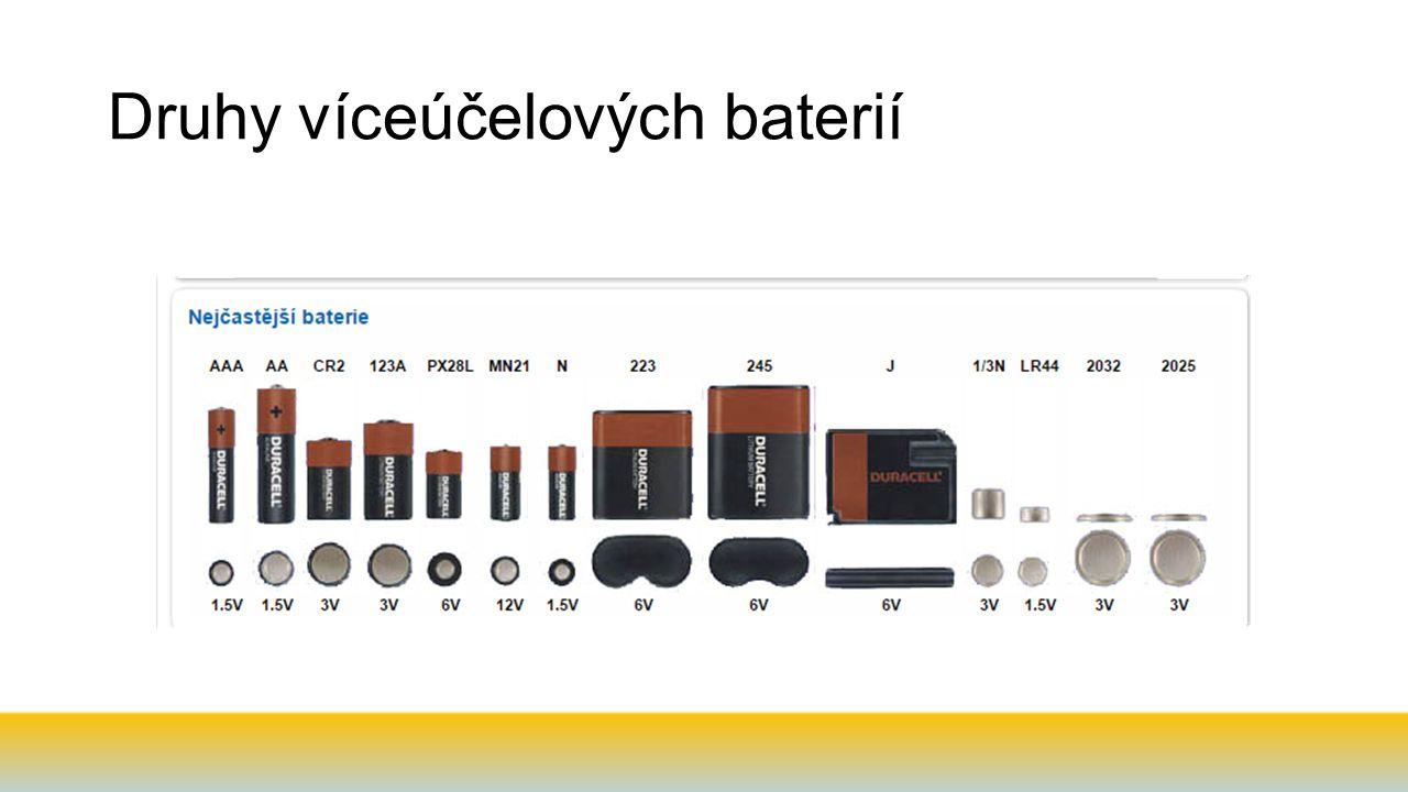 Druhy víceúčelových baterií