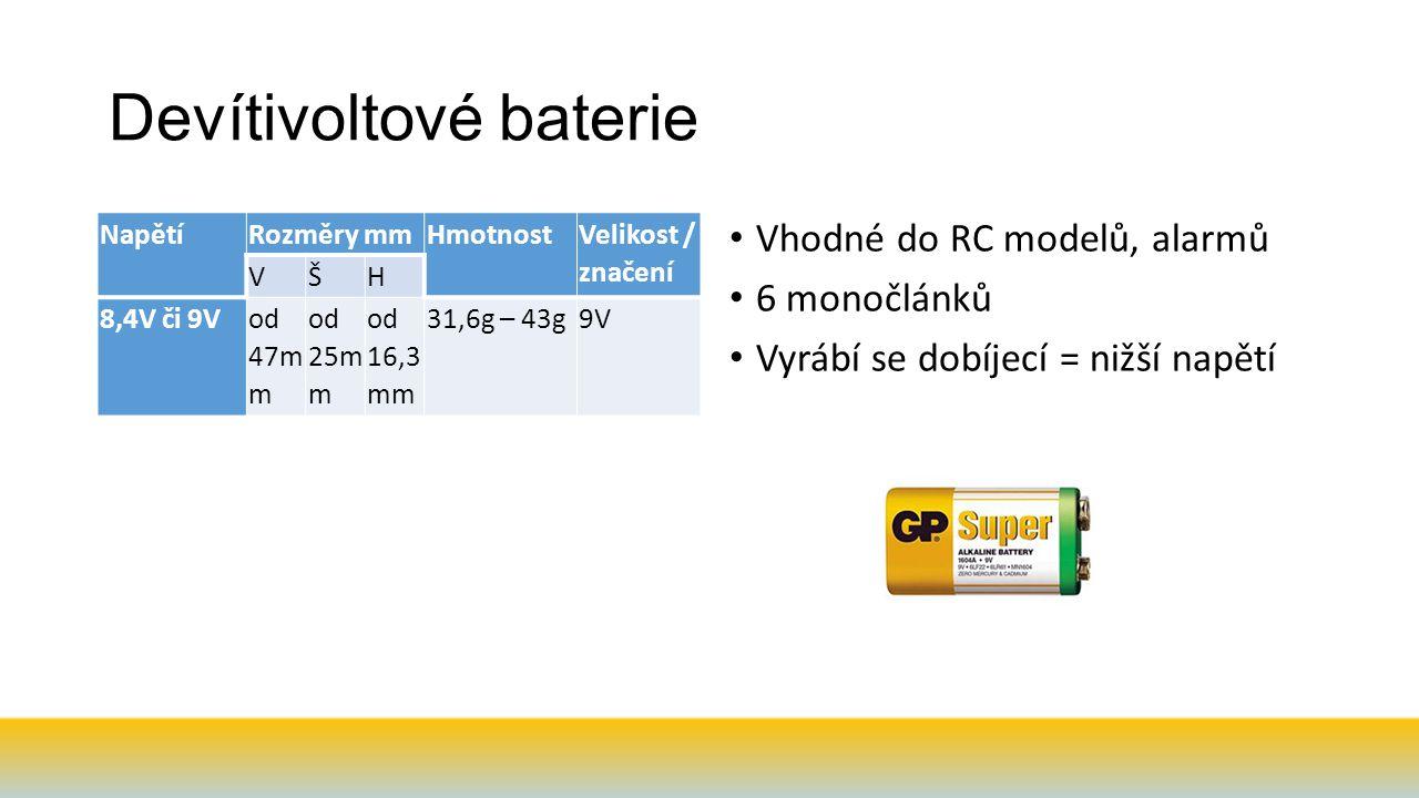 Devítivoltové baterie