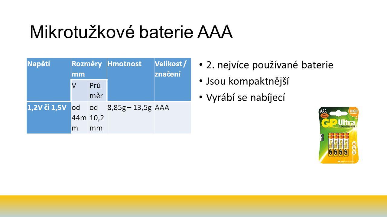 Mikrotužkové baterie AAA