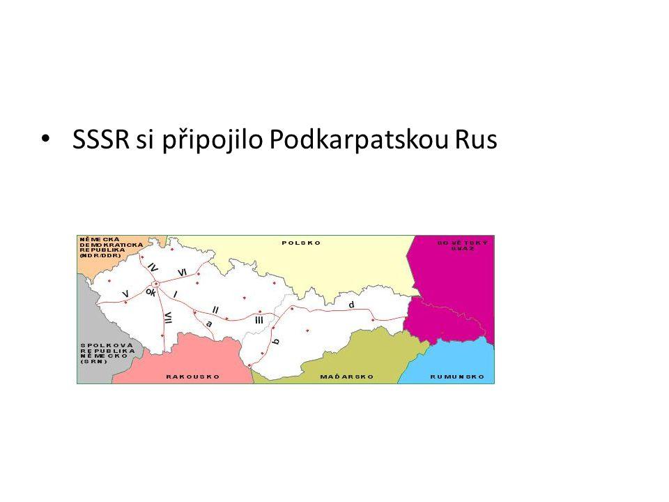 SSSR si připojilo Podkarpatskou Rus
