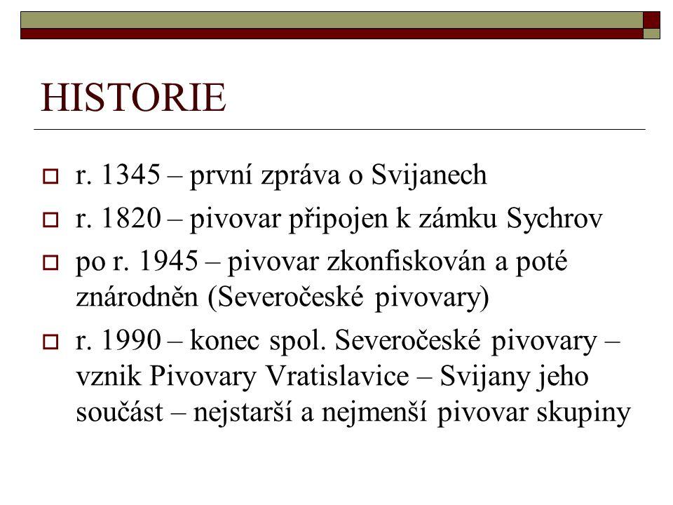 HISTORIE r. 1345 – první zpráva o Svijanech