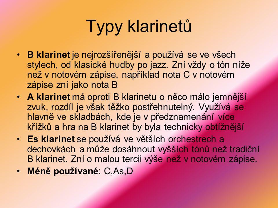 Typy klarinetů