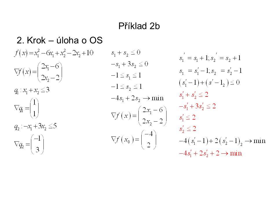 Příklad 2b 2. Krok – úloha o OS