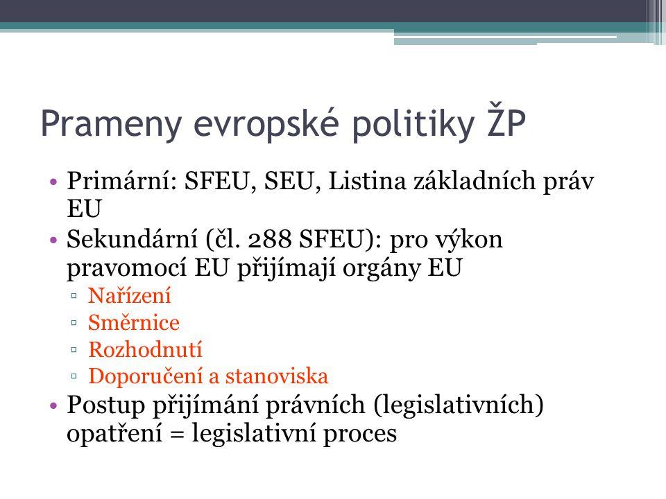 Prameny evropské politiky ŽP