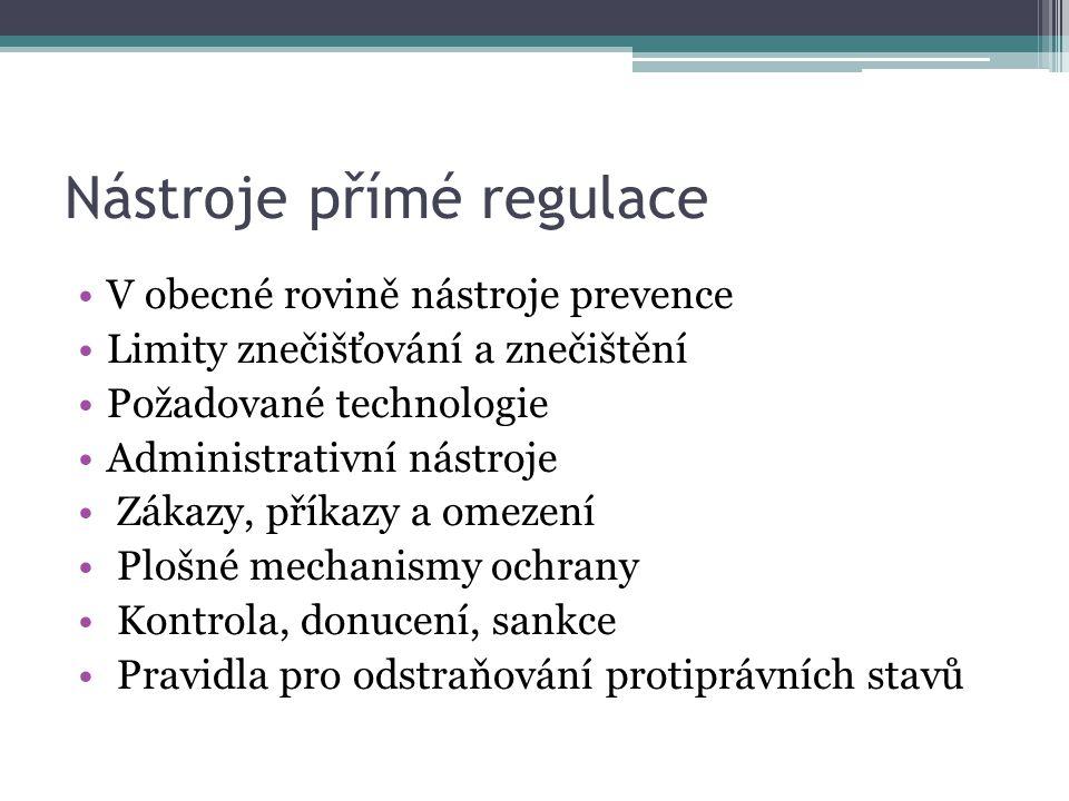 Nástroje přímé regulace