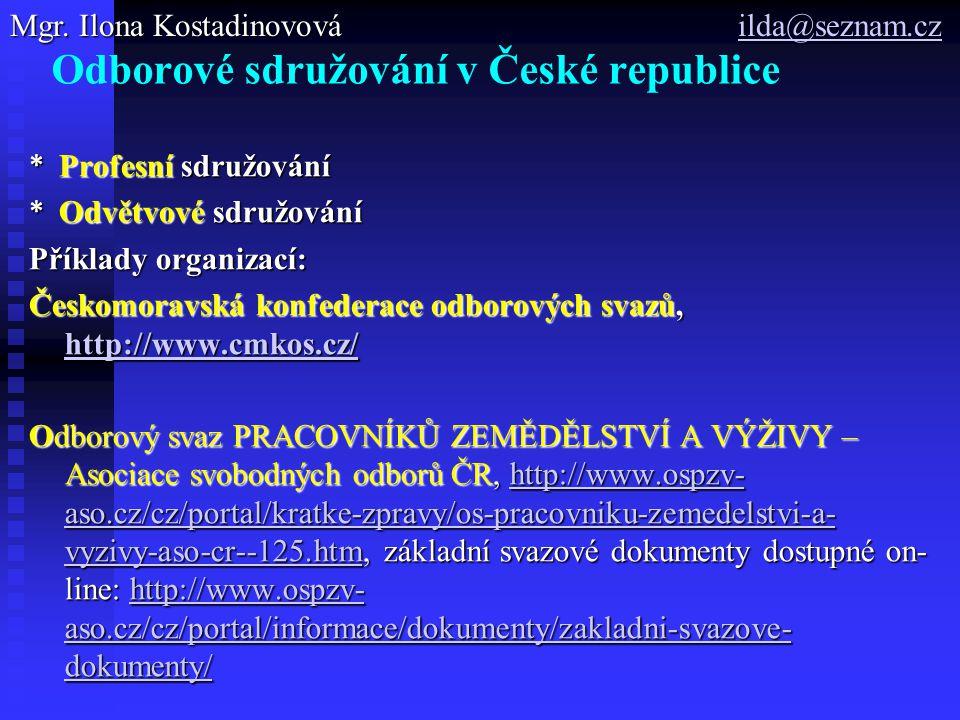 Odborové sdružování v České republice