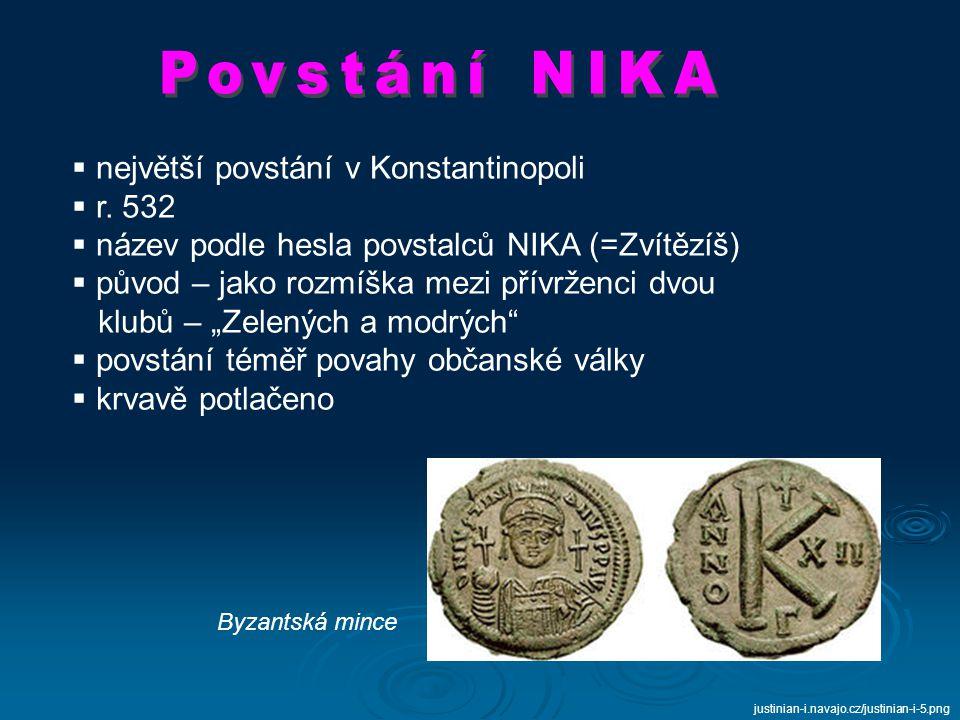 největší povstání v Konstantinopoli r. 532