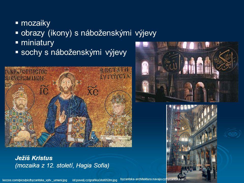 obrazy (ikony) s náboženskými výjevy miniatury