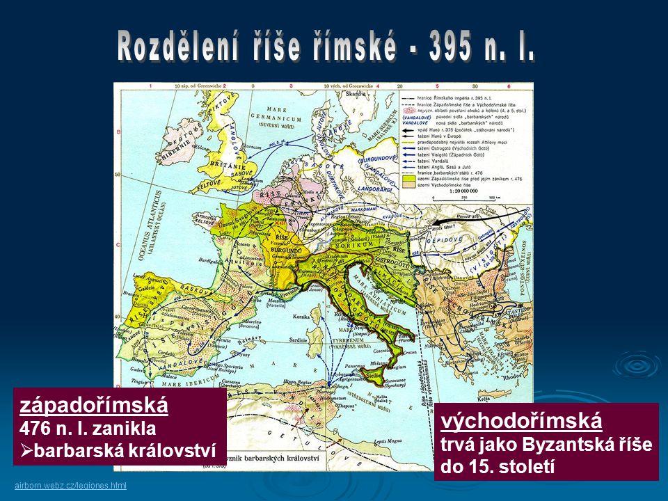 Rozdělení říše římské - 395 n. l.