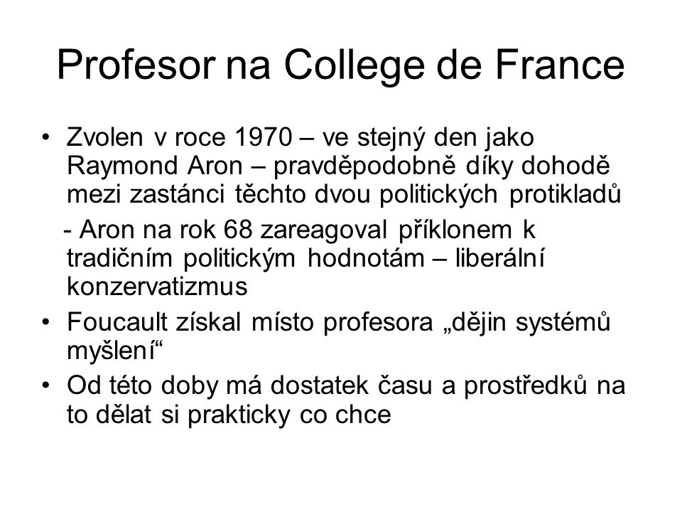 Profesor na College de France