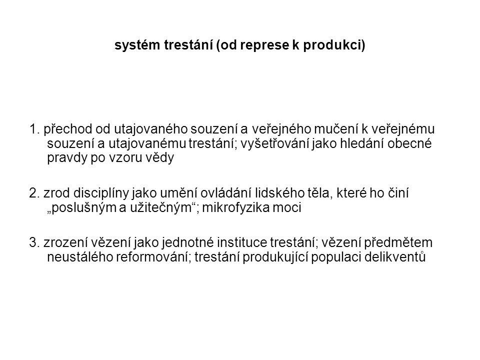 systém trestání (od represe k produkci)