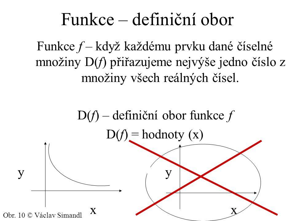 Funkce – definiční obor