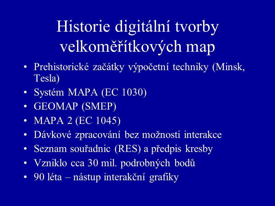 Historie digitální tvorby velkoměřítkových map