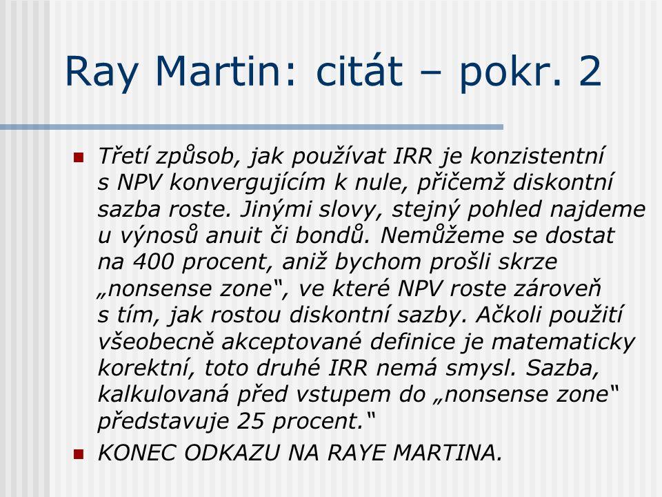 Ray Martin: citát – pokr. 2