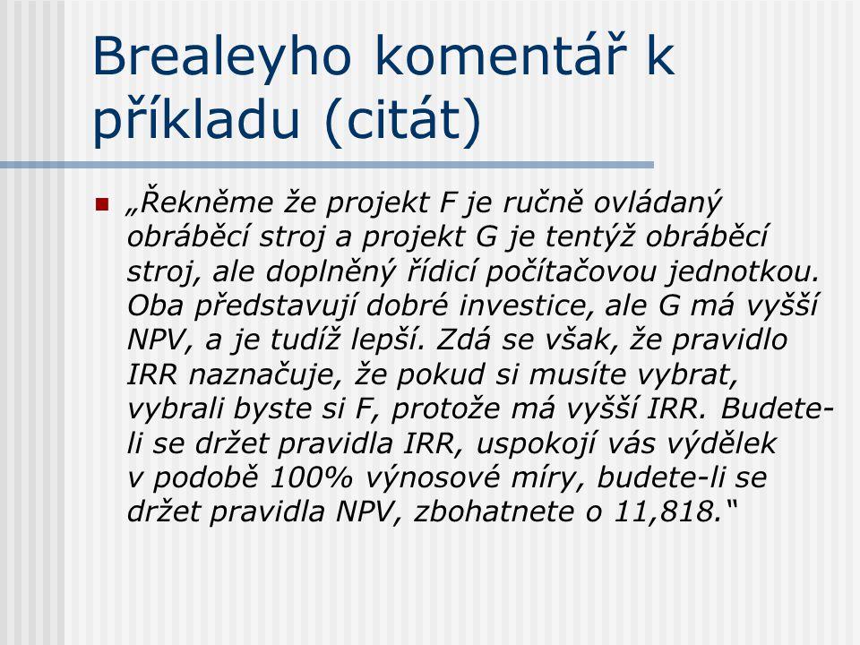 Brealeyho komentář k příkladu (citát)