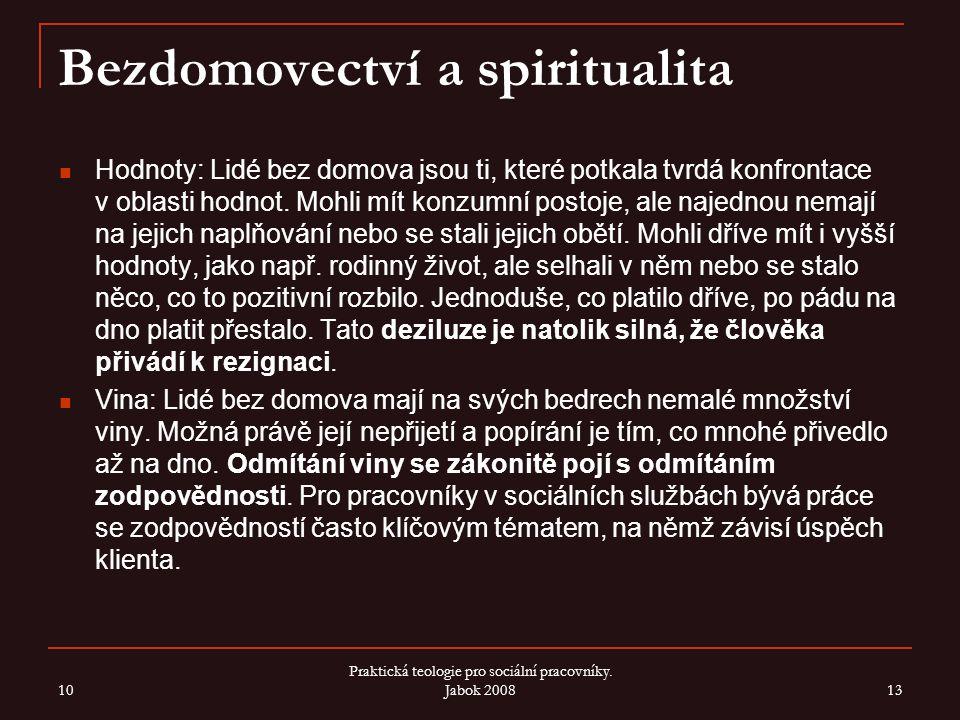 Bezdomovectví a spiritualita
