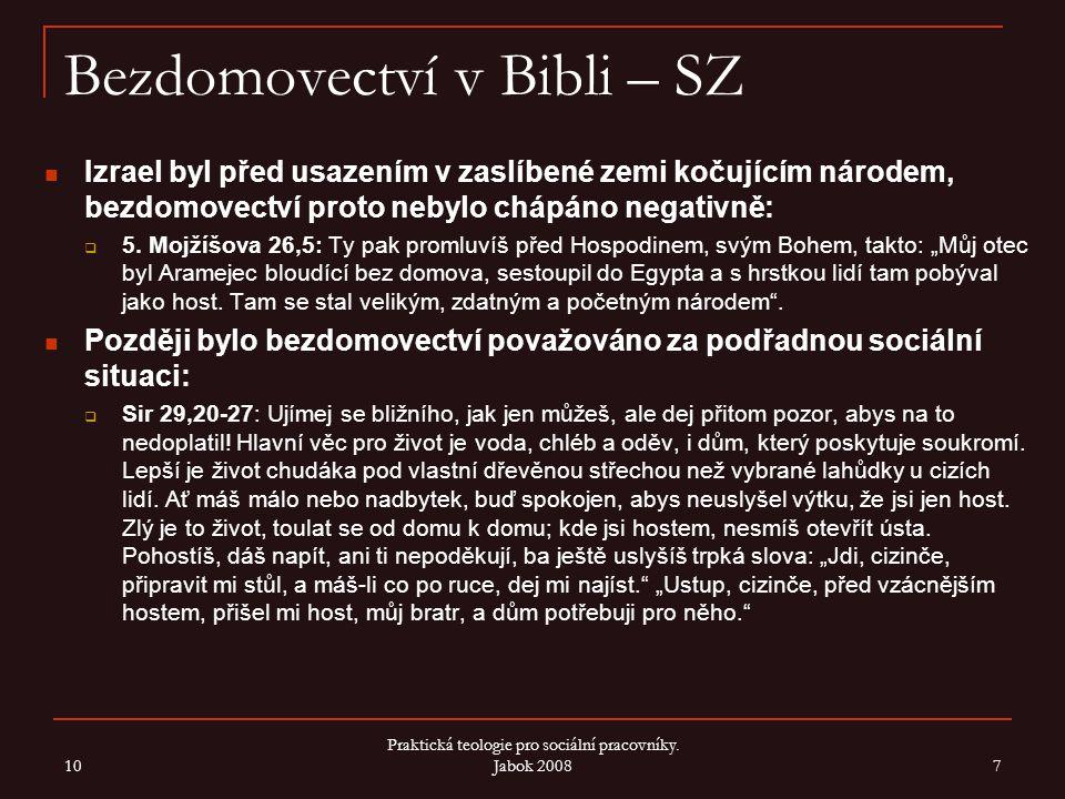 Bezdomovectví v Bibli – SZ