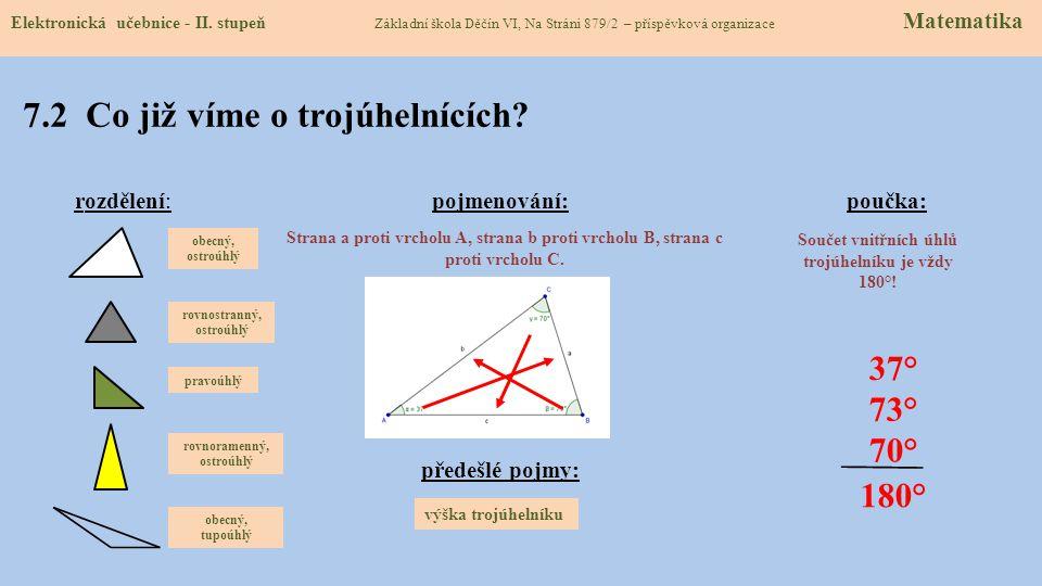 7.2 Co již víme o trojúhelnících
