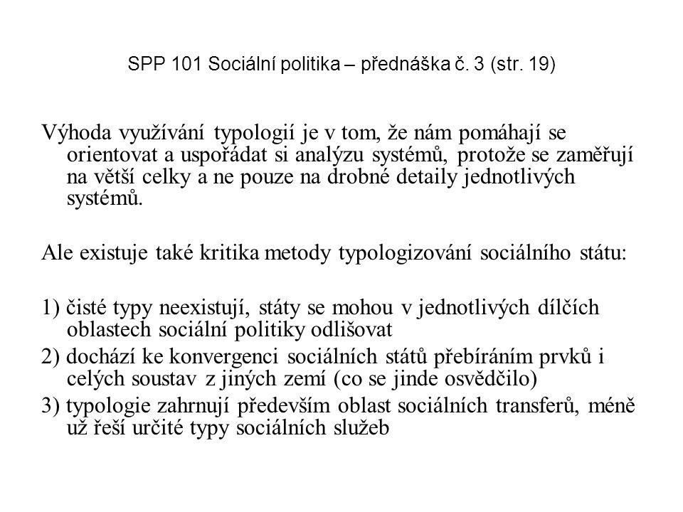 SPP 101 Sociální politika – přednáška č. 3 (str. 19)