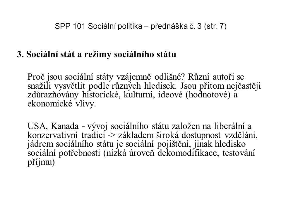 SPP 101 Sociální politika – přednáška č. 3 (str. 7)