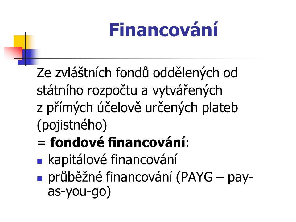 Financování Ze zvláštních fondů oddělených od