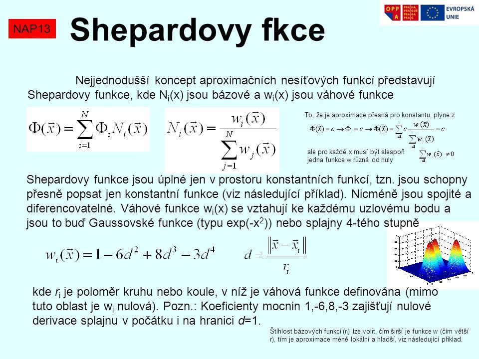 Shepardovy fkce NAP13.