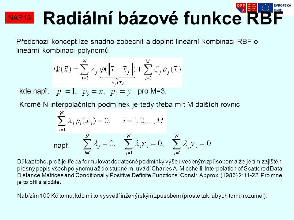 Radiální bázové funkce RBF