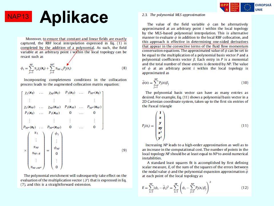 Aplikace NAP13