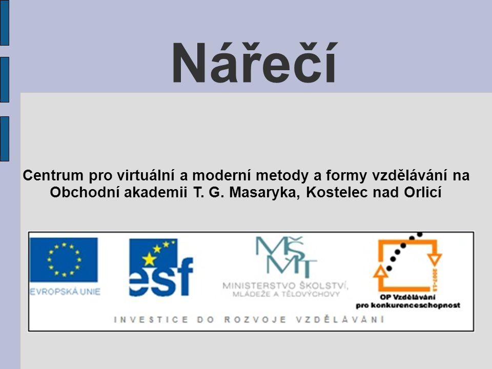 Nářečí Centrum pro virtuální a moderní metody a formy vzdělávání na