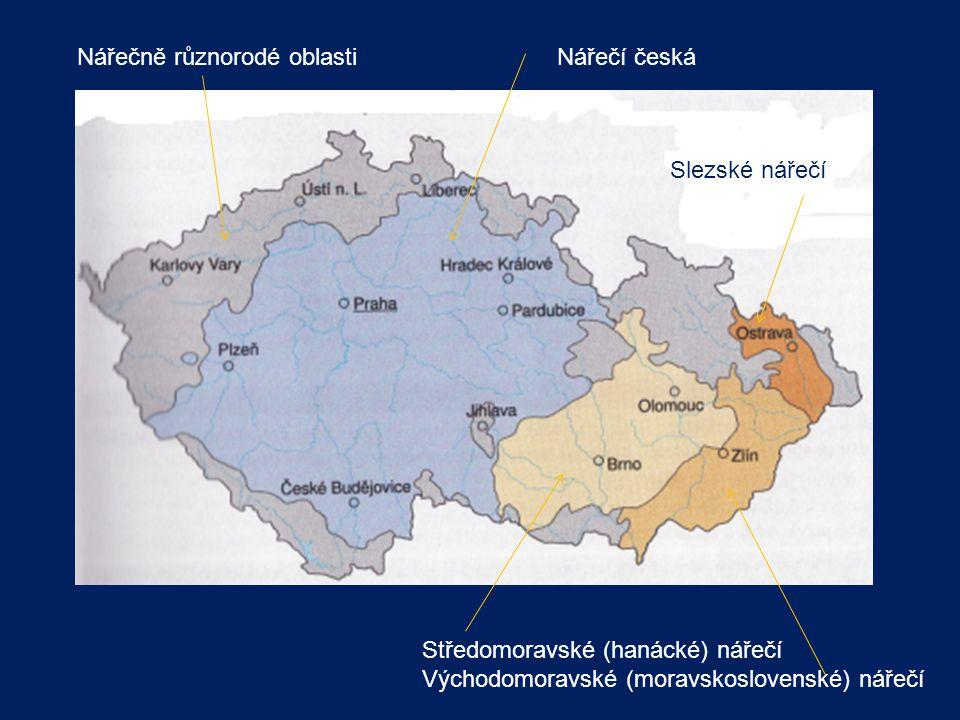Nářečně různorodé oblasti