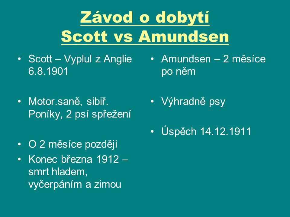 Závod o dobytí Scott vs Amundsen
