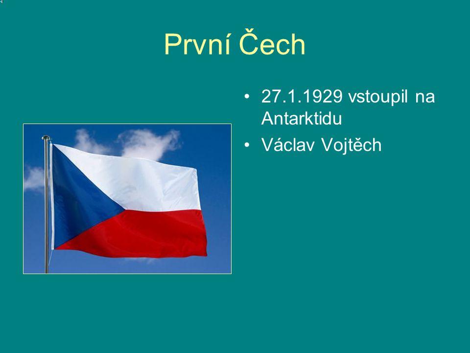 První Čech 27.1.1929 vstoupil na Antarktidu Václav Vojtěch