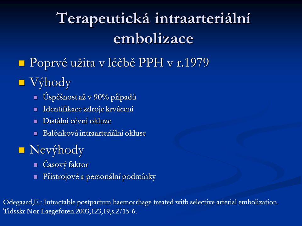 Terapeutická intraarteriální embolizace