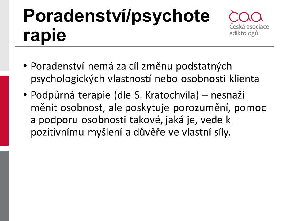 Poradenství/psychoterapie